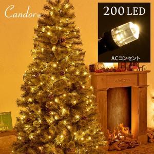 LED 200球 クリスマス イルミネーション ACコンセント式 多彩な8パターン 20m クリスマスイルミネーション  屋外用 ストレートライト|dko