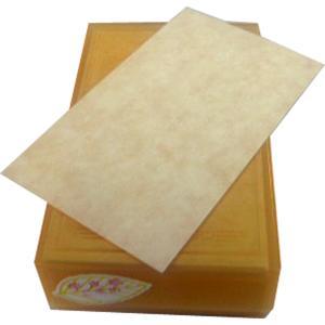 名刺台紙 羊皮紙 古染(こぞめ) 100枚|dkom