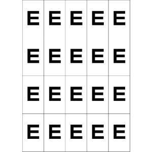 アルファベットEシール(黒) 20丁×5シート(小数100枚)|dkom