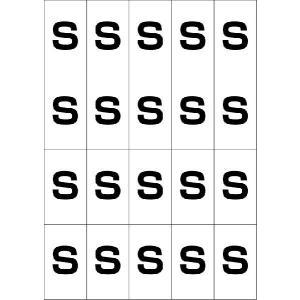 アルファベットSシール(黒) 20丁×5シート(小数100枚)|dkom