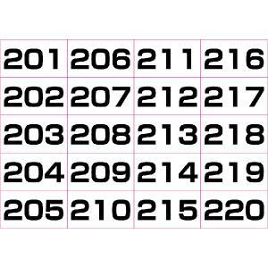 数字シール連番(黒) 201〜300(5シート)|dkom