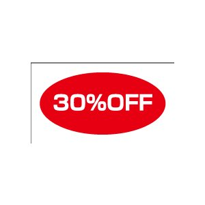 30%OFFシール 20丁×5シート(小数100枚)|dkom