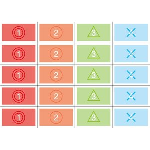 順位シール 4種×5丁×5シート(小数100枚)|dkom