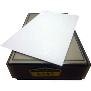 名刺台紙 白大光 100枚|dkom