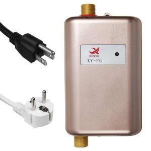 日本対応110V USプラグ 小型コンパクトサイズ 壁掛け式電気給湯器 洗面台所 キッチン 瞬間式温...