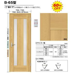 内装ドア BINOIE(ビノイエ) B-65型 丁番ドア 高さ7尺 扉・枠・取手セット 60%OFF NODA(ノダ)シングルドア|dmkenzaiichiba
