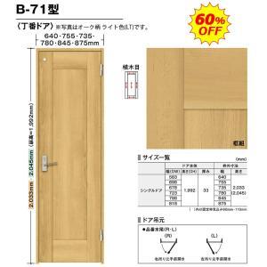 内装ドア BINOIE(ビノイエ) B-71型 丁番ドア 高さ7尺 扉・枠・取手セット 60%OFF NODA(ノダ)シングルドア|dmkenzaiichiba