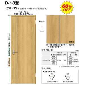 内装ドア BINOIE(ビノイエ) D-13型 丁番ドア 高さ7尺 扉・枠・取手セット 60%OFF NODA(ノダ)シングルドア|dmkenzaiichiba