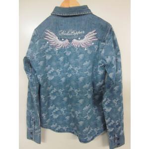 レッドペッパーレディースデニムシャツ#61LS-37IN|dmzfree