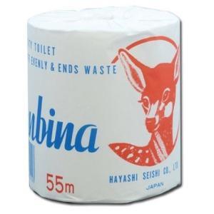 トイレットペーパー バンビーナ1ロール 55m 【ロット割れ不可】100個単位でご注文願います |dnetmall