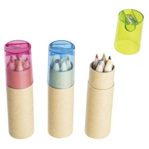 色えんぴつ 6P シャープナー 付   ●色柄指定不可  ●サイズ:色鉛筆85mm/本  ●ポリ袋サ...
