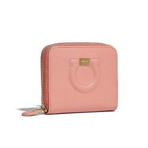サルヴァトーレ フェラガモ Salvatore Ferragamo 二つ折り財布(E 22D290 716204)ピンク ギフト|dnfal