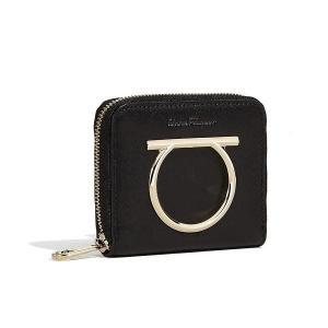 サルヴァトーレ フェラガモ Salvatore Ferragamo 二つ折り財布(E 22D290 691132)ブラック ギフト|dnfal