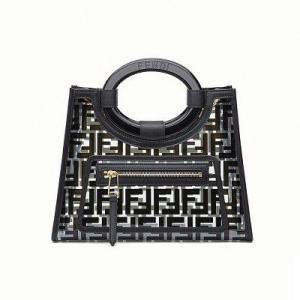 フェンディ FENDI  ラナウェイショッパー PVC ショッパー (8BH353A7S0F0KUR)ブラック|dnfal