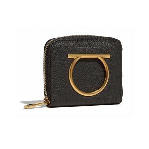 サルヴァトーレ フェラガモ Salvatore Ferragamo 二つ折り財布(E 22D290 716204)ブラック ギフト|dnfal