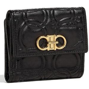 サルヴァトーレ フェラガモ Salvatore Ferragamo 二つ折り財布(E 22D339 695499)ブラック|dnfal