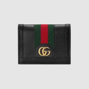 グッチ GUCCI 〔オフィディア〕GG カードケース コイン&紙幣入れ付き(523155 DJ2DG 1060)ブラック レザー ギフト|dnfal