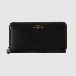 グッチ GUCCI ロゴ レザー ジップアラウンドウォレット(547591 0YA0G 1000)ブラック 長財布 ギフト包装|dnfal