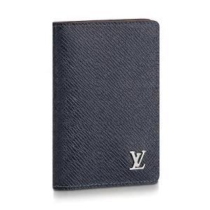 ルイ・ヴィトン LOUIS VUITTON オーガナイザー・ドゥ ポッシュ(M30293)ネイビー/タイガ カードケース|dnfal