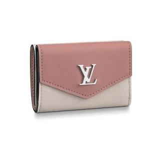 ルイ・ヴィトン LOUIS VUITTON ポルトフォイユ・ロックミニ(M63978)カーフレザー 折財布|dnfal