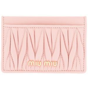ミュウミュウ MIU MIU 「マテラッセ」レザー カードケース(5MC208 N88 F0615)ピンク ギフト dnfal
