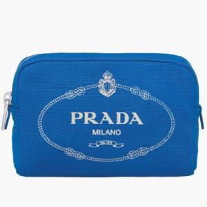 プラダ PRADA ポーチ(1NA021 20L F0WWR)ライトブルー&オフホワイト|dnfal
