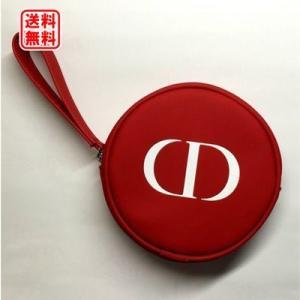 定形外送料無料 ディオール Dior ラウンドポーチ レッド|dnfal