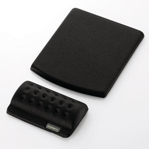 ELECOM エレコム リストレスト+マウスパッド COMFY(カンフィー)ブラック(MP-114BK)|do-mu