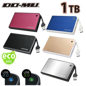 DO-MUオリジナル 外付けハードディスク ポータブルタイプ Eco Portable USB3.0 外付けhdd 1TB (BTOHD-EcoPortable_R10-01)|do-mu