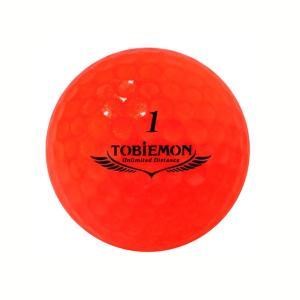 飛衛門 ゴルフボール 高性能 3ピースボール スパークルオレンジ R&A公認球 12球 1ダース 飛距離up (T-B3DO)|do-mu