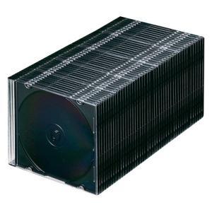 「メディアケース」 SANWASUPPLY(サンワサプライ) スリムDVDケース 50枚セット ブラック (FCD-PU50MBKN) do-mu