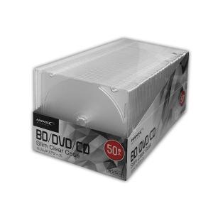 HIDISC ハイディスク ブルーレイ対応薄型クリアディスクケース 50枚 (ML-CD05S50PCR) do-mu