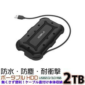DO-MUオリジナル 外付けハードディスク ポータブルタイプ Portable Guard ineo USB3.0対応 2TB (T2566-I 2TB) do-mu