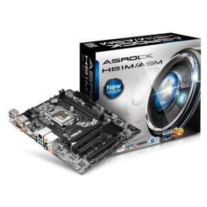 ASRock アスロック H81チップセット microATXマザーボード (H81M/ASM) 「パッケージ難あり」|do-mu
