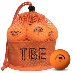 飛衛門 ゴルフボール メッシュバック マット オレンジ R&A公認球 メッシュバッグ マットボール 12球 1ダース 飛距離up (T-2MO)|do-mu