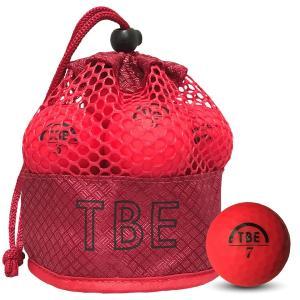 飛衛門 ゴルフボール メッシュバック マット レッド R&A公認球 メッシュバッグ マットボール 12球 1ダース 飛距離up (T-2MR)|do-mu
