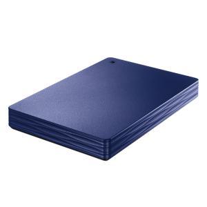 IO DATA アイ・オー・データ USB 3.1 Gen 1(USB 3.0)/2.0対応 外付けポータブルハードディスク 1TB ミレニアム群青 (HDPH-UT1NVR) do-mu