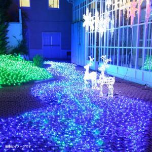 LED イルミネーション ネットライト 道 点滅 ディスプレイ 飾り 照明 ライティング クリスマス ミルキーウェイ 黄緑×青 庭 ガーデン 家 CR-40|doanosoto