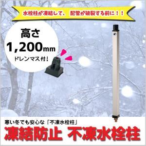 不凍水栓柱 水道 ドレンマスセット付 1200mm 蛇口なし 庭 水回り 冬 凍結 MGY-319|doanosoto
