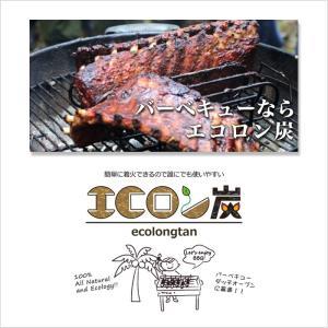 炭 着火剤 簡単 長持ち キャンプ バーベキュー ココナツ ヤシガラ HIRAKI エコロン炭 2kg HK|doanosoto|04