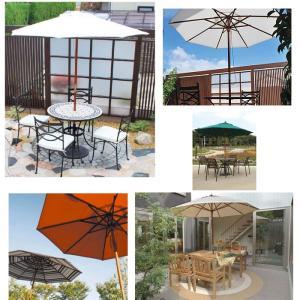 パラソル ガーデン マーケットパラソル 2.1m 庭 テラス シェード UV 店舗 日よけ 紫外線 天然木 全6色 TK-P1152|doanosoto|07