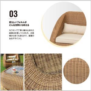 ダブルソファ 椅子 リビング テラス バルコニー カフェ リゾート 人工ラタン ガーデン ファニチャー Loom garden ロムガーデン ブルコス TK-1224|doanosoto|05