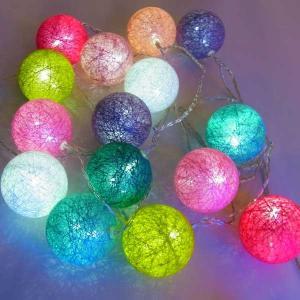 室内用 イルミネーション LED カラフル ボールライト 20球 COF20 CR-99 イベント クリスマス 照明 ライト イベント|doanosoto