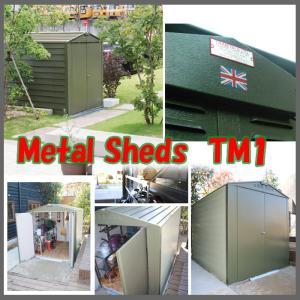 収納庫 デザイン倉庫 本体色 全2色 METAL SHEDS メタルシェッド TM1 GA-340  D60TM1 doanosoto 08