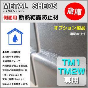 【 TM1 TM2W 専用 】 側面用断熱結露防止材 オプション 物置 屋外 収納庫 のり付 METAL SHEDS メタルシェッド GA-416|doanosoto