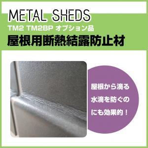 【 TM2 TM2BP 専用 】 屋根用断熱結露防止材 オプション  METAL SHEDS メタルシェッド  物置 屋外収納 GA-417|doanosoto
