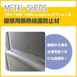 【 TM3 TM6 TM6 cycle plus 専用 】 屋根用断熱結露防止材 オプション  METAL SHEDS メタルシェッド  物置 屋外収納 GA-419|doanosoto