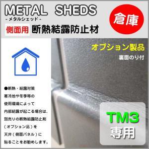 【 TM3 専用 】 側面用断熱結露防止材 オプション 物置 屋外 収納庫 のり付 METAL SHEDS メタルシェッド GA-419|doanosoto