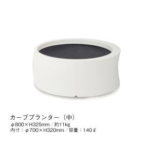 プランター ポット 植木鉢 白 ホワイト 中型 FRP ガーデン 商業施設 サイズ中 タカショー TK-P1245|doanosoto