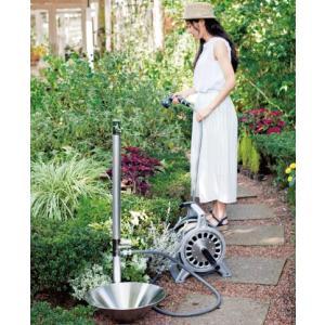 立水栓 水栓柱 シンプル 水回り 庭 水道 ガーデン スマート スタイリッシュ 双口 2口 全3色 Liberta リベルタ2 MYT-268 doanosoto 06